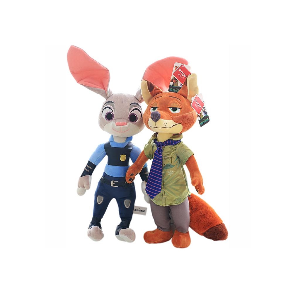 >澳捷尔 兔子朱迪狐狸尼克布娃娃玩偶